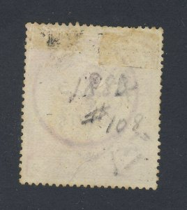 Great Britain Queen Victoria stamp #108 - 5 shillings Guide Value= $110.00 USA $