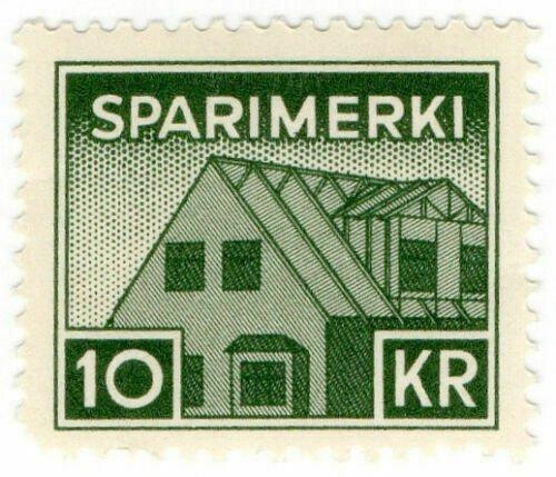 (I.B) Iceland Revenue : Savings Stamp 10Kr (Sparimerki)