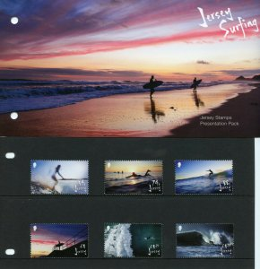 Jersey 2021 MNH Sports Stamps Surfing Landscapes Beaches 6v Set Pres Pack