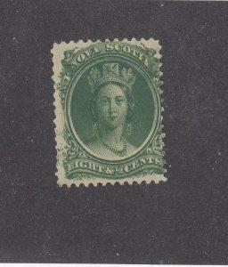 NOVA SCOTIA (MK4557)  # 11  FVF-MNH  8 1/2cts  QV /GREEN/WITH MARGIN CAT VAL $30