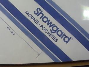 SHOWGARD MOUNTS # 61--215MM LONG x 61MM WIDE---15 STRIPS---BLACK /NEW