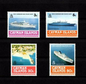 CAYMAN IS - 1978 - SHIPS - CRUISE SHIPS - NEW HARBOR + 4 X MINT - MNH SET!
