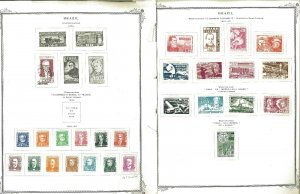 Brazil 1954-1969 Mint (mostly) & Used Hinged on Scott Specialty Pages