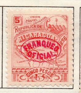 Nicaragua 1896 Early Issue Fine Mint Hinged 5c. Optd 139304