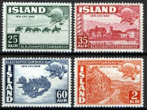 Iceland 1949, UPU set MNH, Mi 259-62