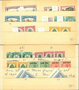 EDW1949SELL : SOUTH WEST AFRICA Clean, all VF Mint OG collection. Scott Cat $98.