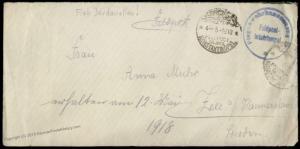 Germany 1918 WWI Constantinople Flugabwehr Flak Turkey Military Mission Co 82908