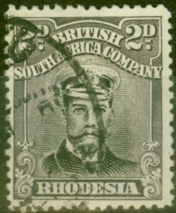 Rhodesia 1923 2d Black & Slate-Purple SG292 Fine Used