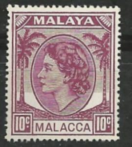 Malaya-Malacca # 35 Queen Elizabeth, 10c   (1)  Unused VLH