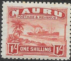NAURU SG36B 1937 1/= BROWN-LAKE MNH
