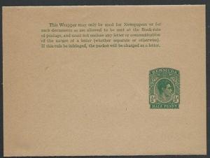 BERMUDA GVI ½d newspaper wrapper fine unused...............................56909