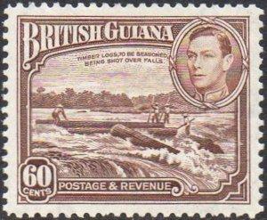 British Guiana 193860c Shooting logs over falls MH