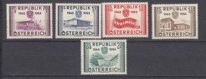 J29494, 1955 austria set mh #599-603 views