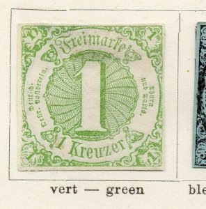 Tour & Taxis 1852 Early Issue Fine Mint Hinged 1kr. NW-04566