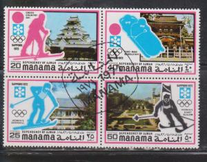 MANAMA AJMAN Scott # ??? Used - Winter Olympics Sapporo 1972