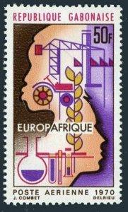 Gabon C91,MNH.Michel 362. EUROPAFRICA-1970.Heads,symbols of Industry.