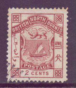 North Borneo Scott 27 - SG25 1886 Postage 2c used cto
