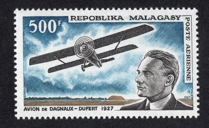 Malagasy Republic   #C84  MNH  1967  aviation Dagnaux and his biplane