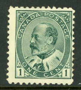 Canada 1903-08 KEVII Admiral 1¢ Green  Scott #89 MNH **G86**