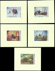 Upper Volta 365-367,C209-210, MNH, American Revolution souvenir sheets