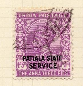 Indian States Patiala 1927-36 Early Issue Fine Used 1a.3p. Optd 075640