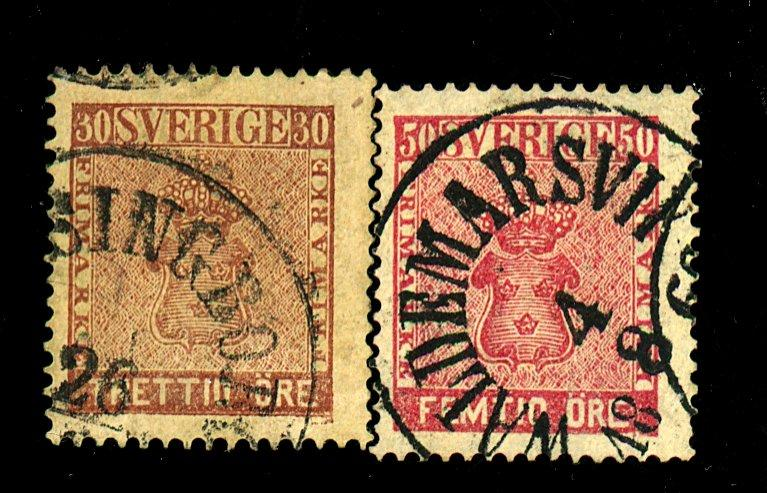 Sweden #11-12 useD F-VF Cat$145