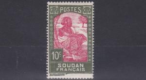 FRENCH COLONIES SUDAN  1931  10C  CARMINE & GREEN     MH