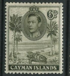 Cayman Islands -Scott 107a -KGVI Definitive Issue -1938- MH -Single 6d Stamp