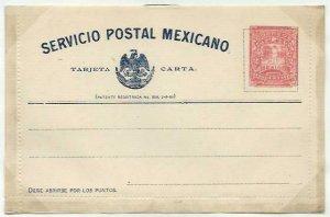 MEXICO 2c lettercard 1897 unused...........................................58729