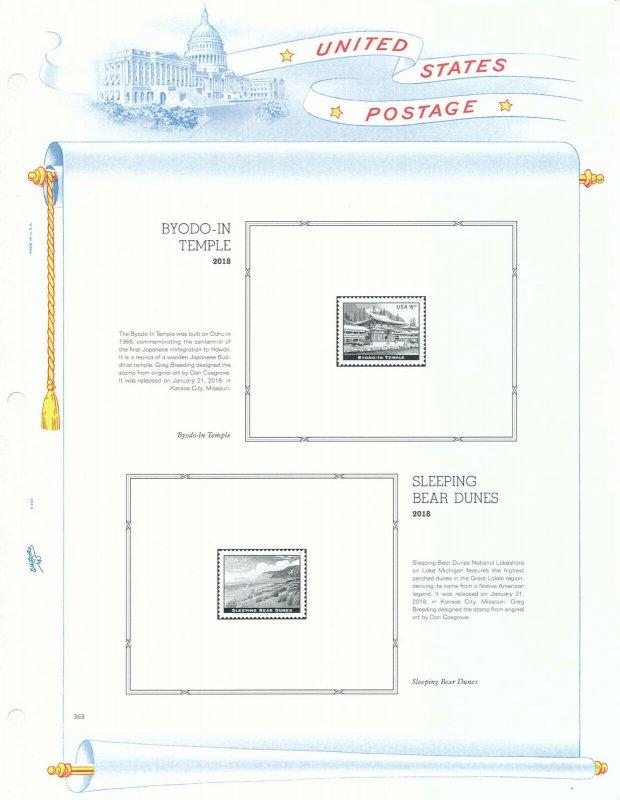 WHITE ACE 2018 US Regular Issue Plate Blocks Album Supplement USR-PB49