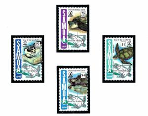 Samoa 895-98 MNH 1995 Year of the Sea Turtle