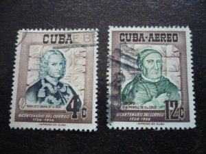 Stamps - Cuba - Scott# 552,C129 - Used Set of 2 Stamps