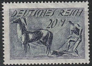 Stamp Germany Reich Mi 196 Sc 196 1921 Plowing Horse Farmer Plough Empire MH
