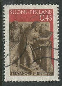 Finland - Scott 455- Paper Making -1968 - Used - Single 45p stamp