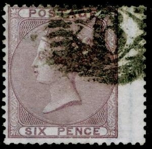 SG70, 6d pale lilac, FINE USED. Cat £120.