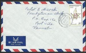 VANUATU 1992 local cover, Port Vila cds, 20v Orchid........................49678