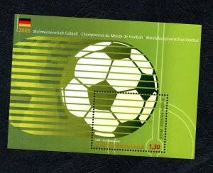 2006- Belgium- Soccer world cup- Germany 2006-  Fifa - Football- MS- MNH**