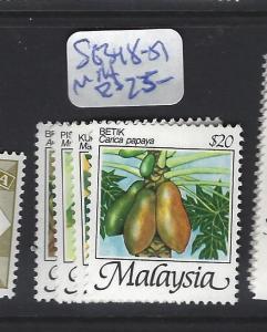 MALAYSIA   (P3007BB)   FRUIT SG 348-351   MNH