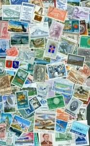 Iceland.  Lot. 100 Different With Cancel.