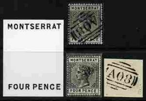 Montserrat group of four Photographic prints from Sperati...