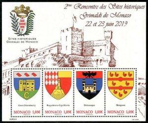 HERRICKSTAMP NEW ISSUES MONACO Sc.# 2981 Historic Sites of the Grimaldis