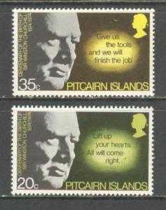 PITCAIRN ISL Sc# 144 - 145 MNH FV Set of 2 Winston Churchill