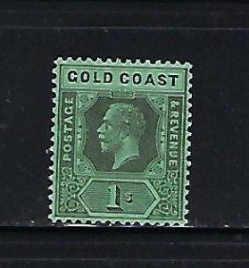 GOLD COAST SCOTT #90 1921-25 1SH (BLACK/EMERALD) WMK 4 (DIE II)- MINT HINGED