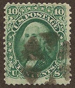 #68 used, 10c. Washington, SCV $60