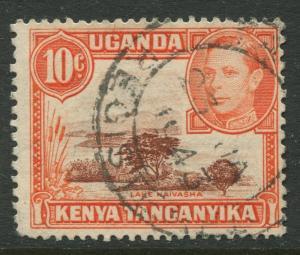 Kenya & Uganda - Scott 69 - KGVI Definitive -1938 - Used - Single 10c Stamp