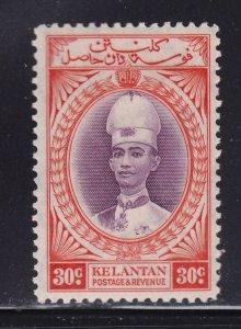 Kelantan Scott # 38 VF mint lightly hinged with nice color cv $ 40 ! see pic !