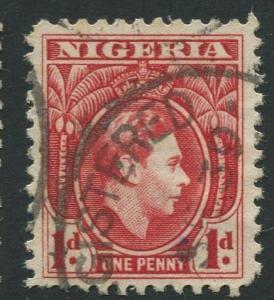 Nigeria -Scott 54 - KGVI Definitive -1938 - Used - Single 1p Stamp