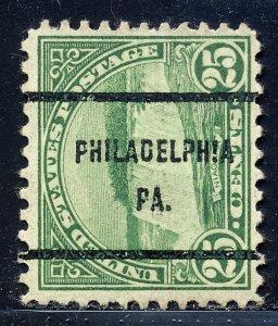 Philadelphia PA, 699-61 Bureau Precancel, 25¢ Niagra Falls