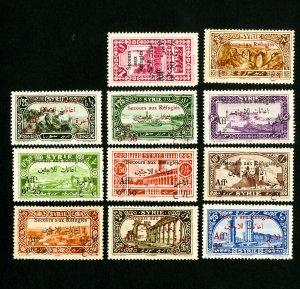Syria Stamps # B1-7+B9-12 VF OG LH Scott Value $24.75