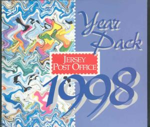 JERSEY 1998 YEAR PACK CONTAINING ALL COMMEMORATIVE ISSUES MINT NH AS SHOWN